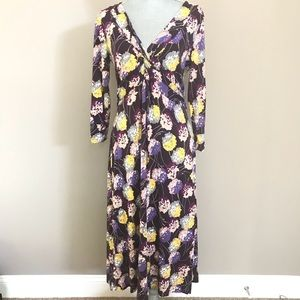 Boden purple dandelion jersey dress